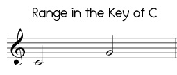 Easy Jingle Bells range in C, low version