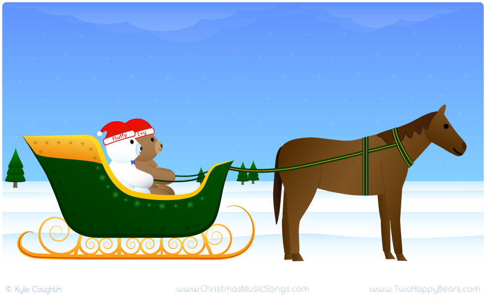 Fluffy and Ivy are going for a ride in a one-horse open sleigh!