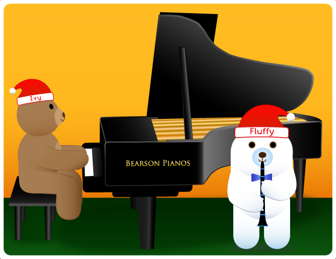 Piano accompaniments to Christmas Songs