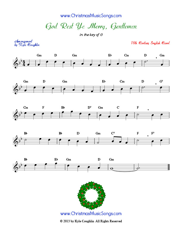 God Rest Ye Merry, Gentlemen free sheet music