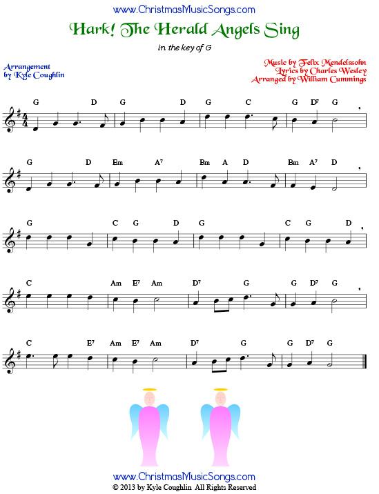 Hark! The Herald Angels Sing free sheet music