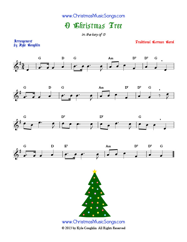 Oh Tannenbaum Originaltext.O Christmas Tree Free Sheet Music