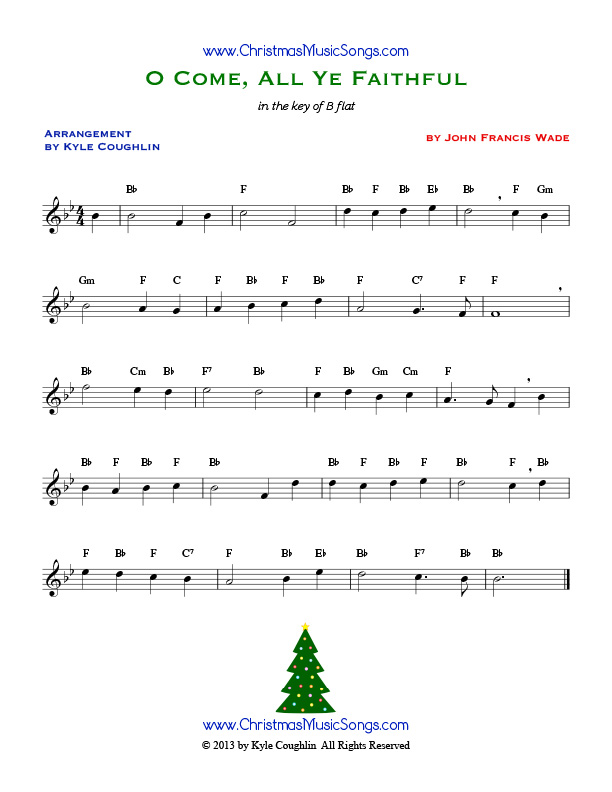 All Music Chords free french horn sheet music : O Come, All Ye Faithful free sheet music