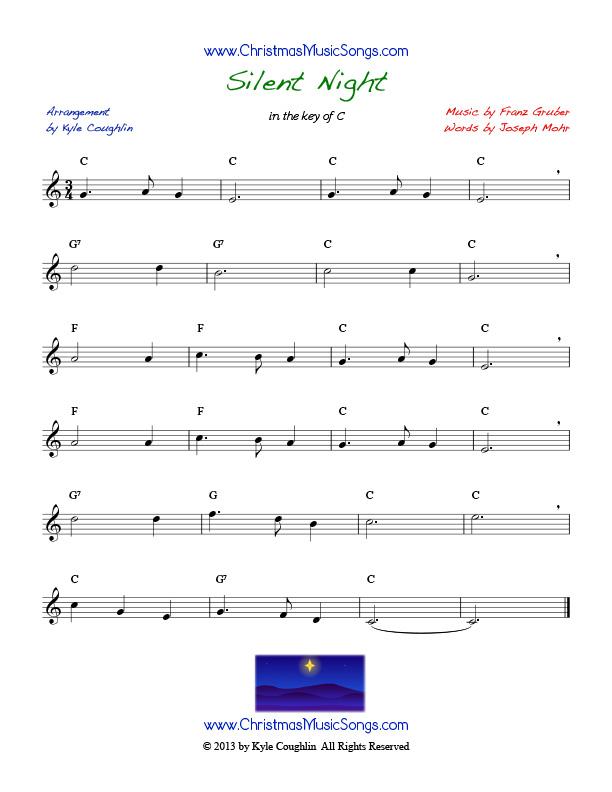 Silent Night free sheet music
