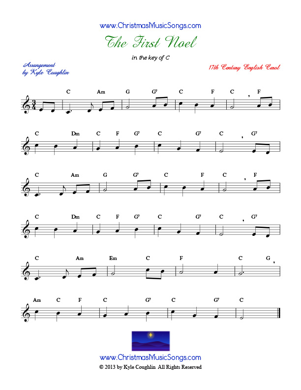 All Music Chords free french horn sheet music : The First Noel free sheet music