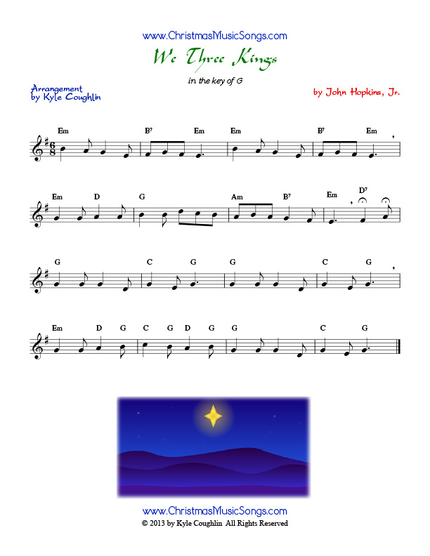 We Three Kings Of Orient Are Free Sheet Music