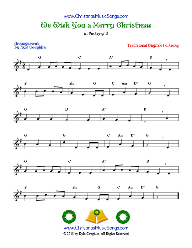 Wish You a Merry Christmas free sheet music