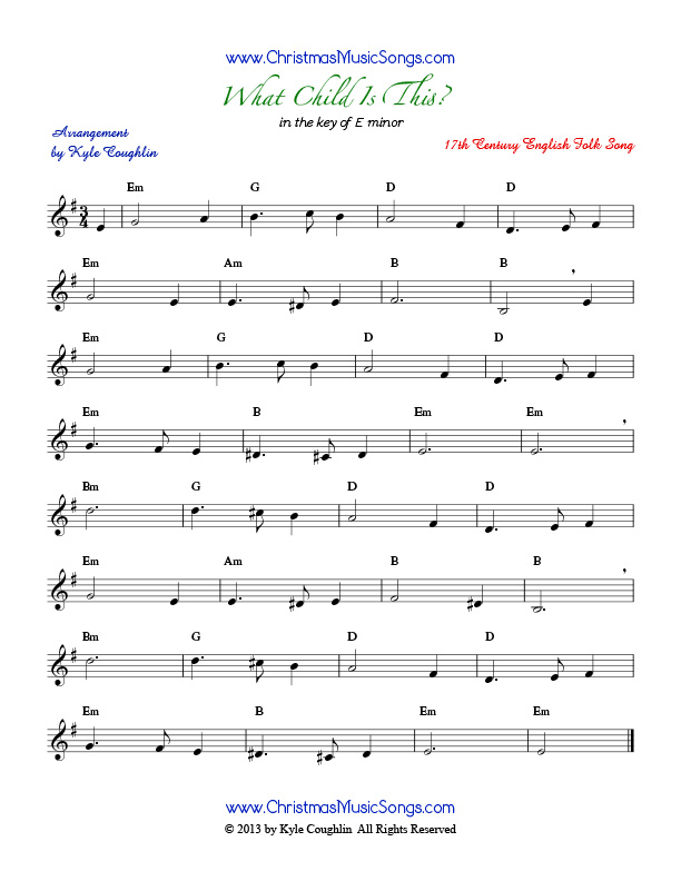 what child is this sheet music