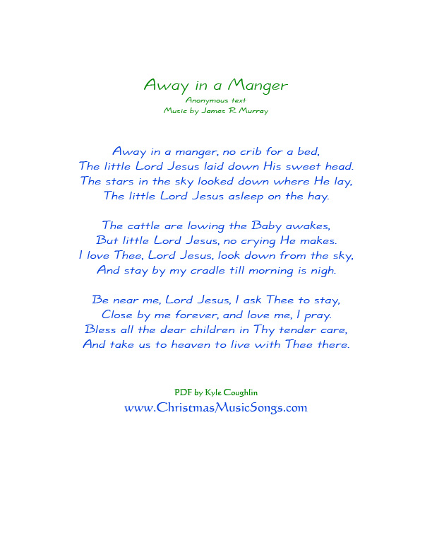 Away in a Manger lyrics