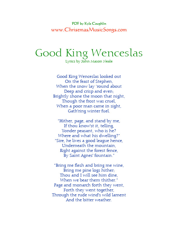 Good King Wenceslas lyrics