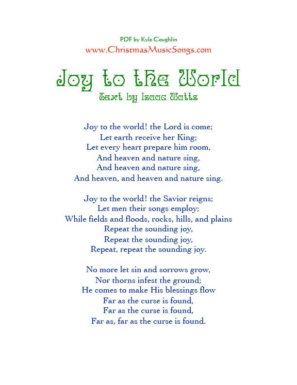 Joy To The World Lyrics.Joy To The World Lyrics