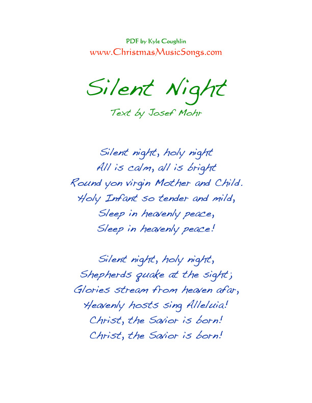 Silent Night lyrics by Christmas Songs, 1 meaning ...