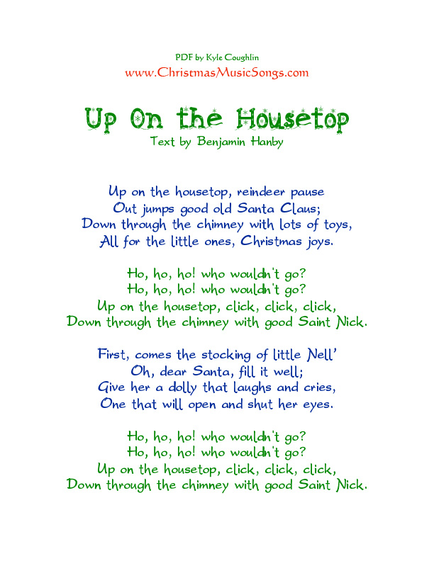 Up on the Housetop lyrics