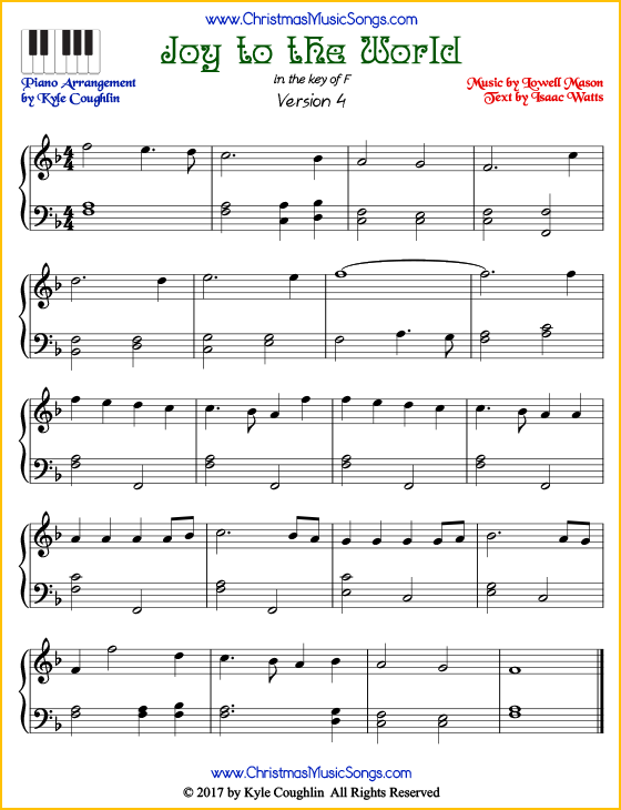 picture relating to Free Printable Christmas Sheet Music for Piano referred to as Happiness towards the World wide piano sheet audio - cost-free printable PDF