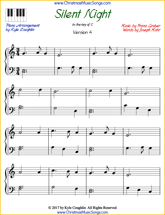 photograph regarding Free Printable Christmas Sheet Music for Piano called Peaceful Evening piano sheet tunes - totally free printable PDF