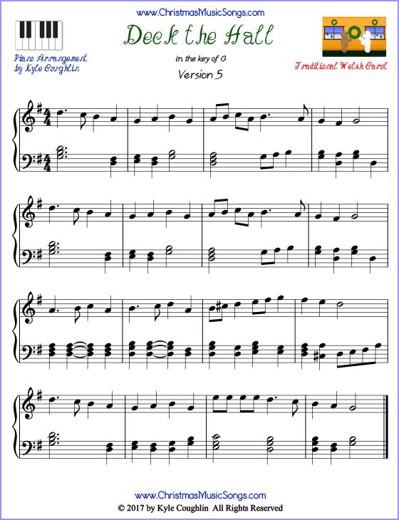 free christmas piano sheet music pdf