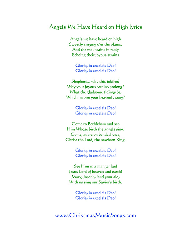 Download Christmas Song Gloria In Excelsis Deo   Gantt Chart Excel Template