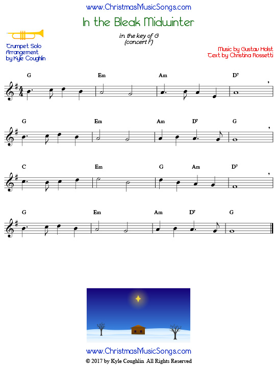 In The Bleak Midwinter For Trumpet Solo: In The Bleak Midwinter Trumpet Sheet Music At Alzheimers-prions.com