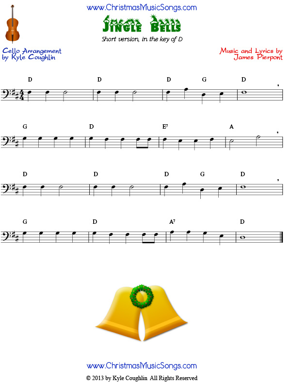 Jingle Bells easy version for cello