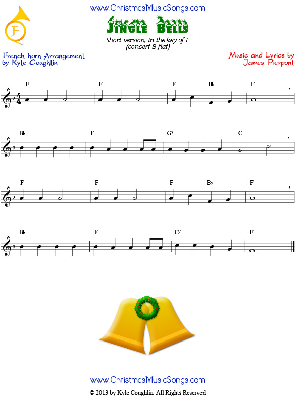 Jingle Bells easy version for French horn
