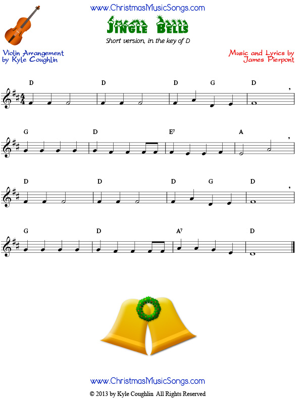 jingle bells violin sheet with letters jingle bells for violin easy version free sheet 423