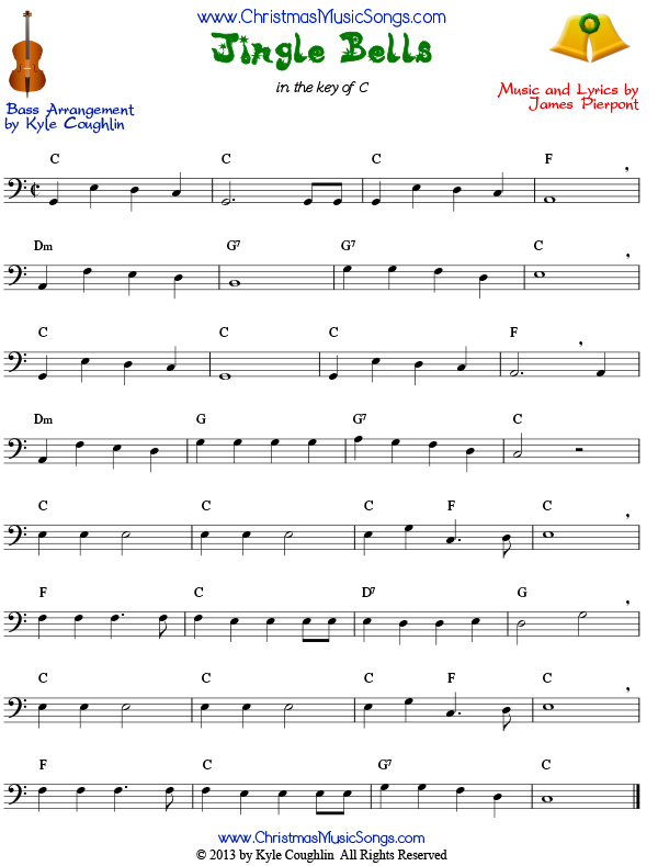 Jingle Bells sheet music for bass