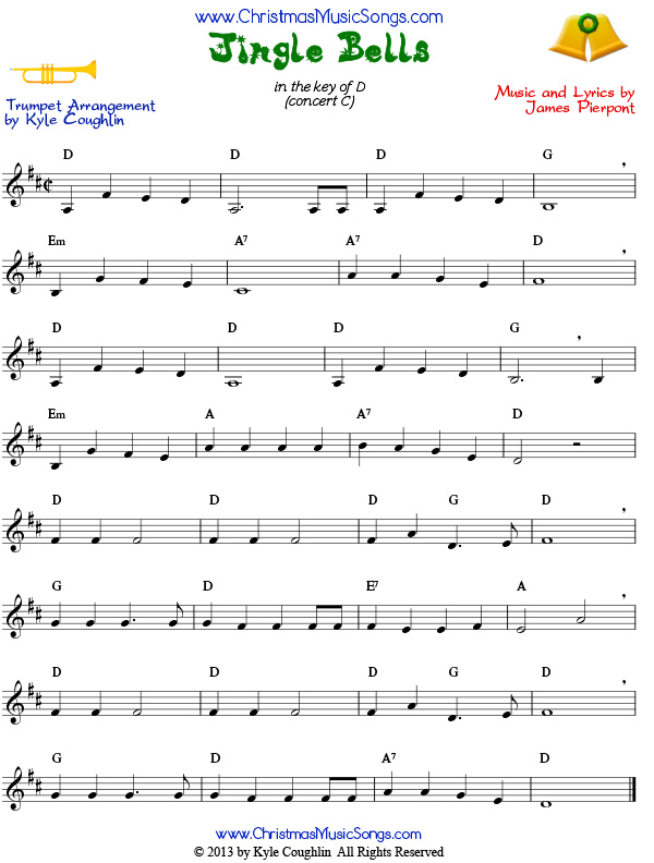 Jingle Bells for trumpet - free sheet music
