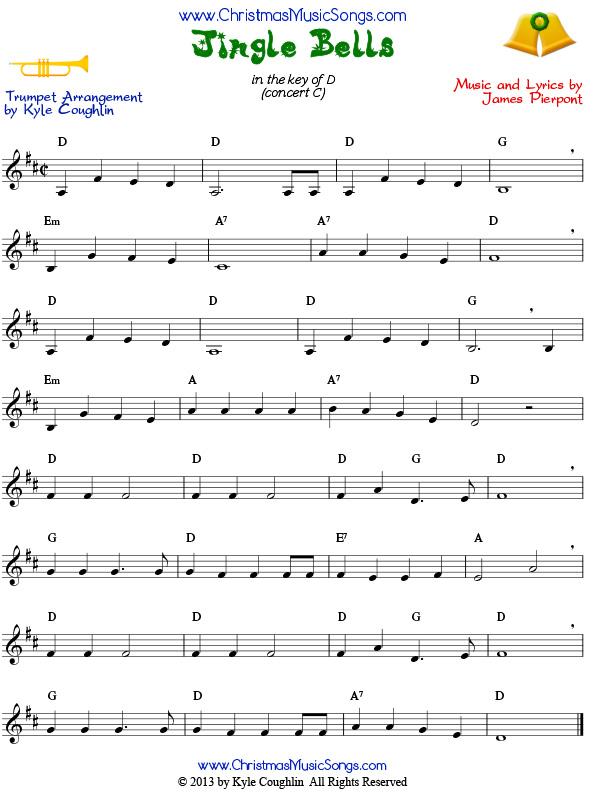 Jingle Bells for trumpet - free sheet music
