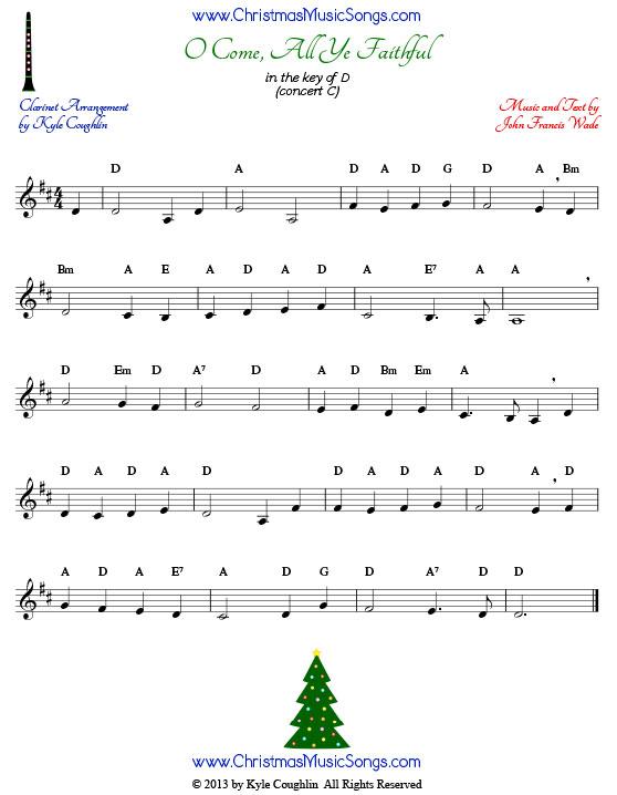 clarinet sheet music