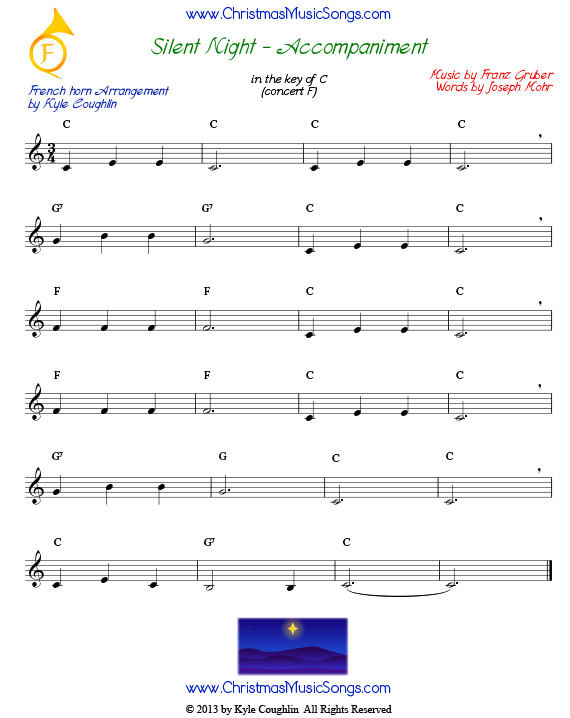 Silent NIght French horn accompaniment