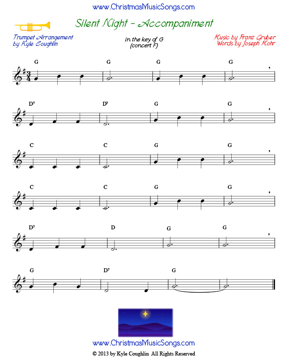 silent night harmonized sheet music pdf