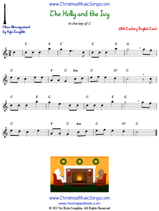 The Holly and the Ivy bassoon sheet music, arranged to play along with other wind, brass, and string instruments.