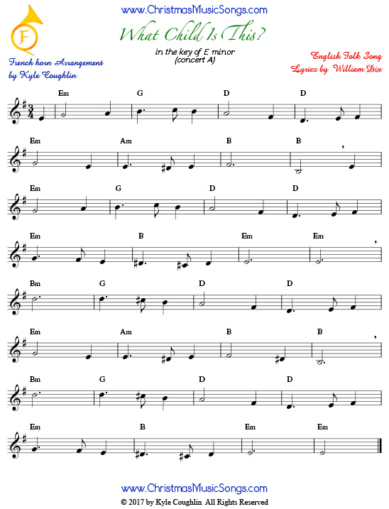 what child is this for french horn free sheet music. Black Bedroom Furniture Sets. Home Design Ideas