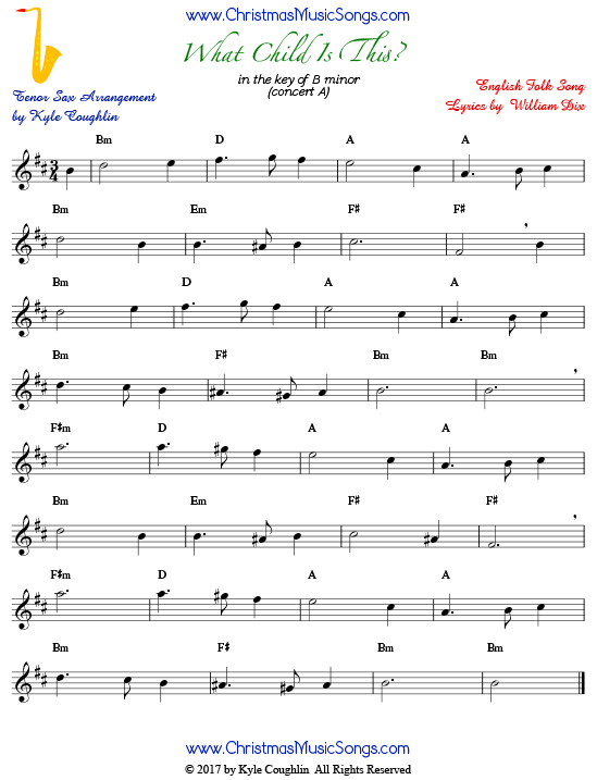 Tenor Free Sheet Music Instrumental – Grcija