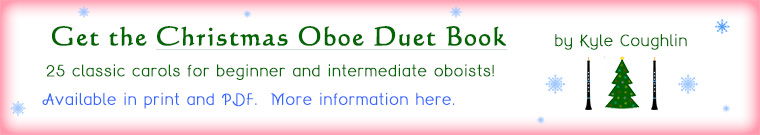 Christmas oboe duets