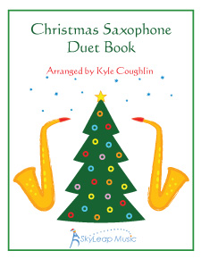 The Christmas Saxophone Duet Book, arranged by Kyle Coughlin