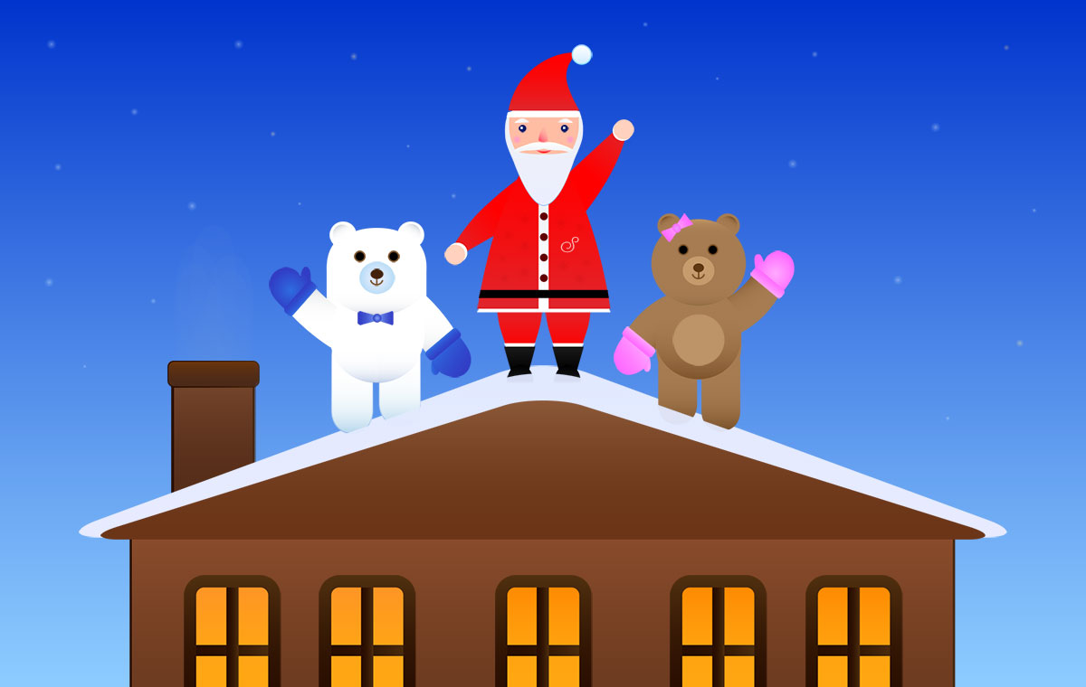 how many days until christmas the two happy bears will tell you - How Many Days Till Christmas Eve