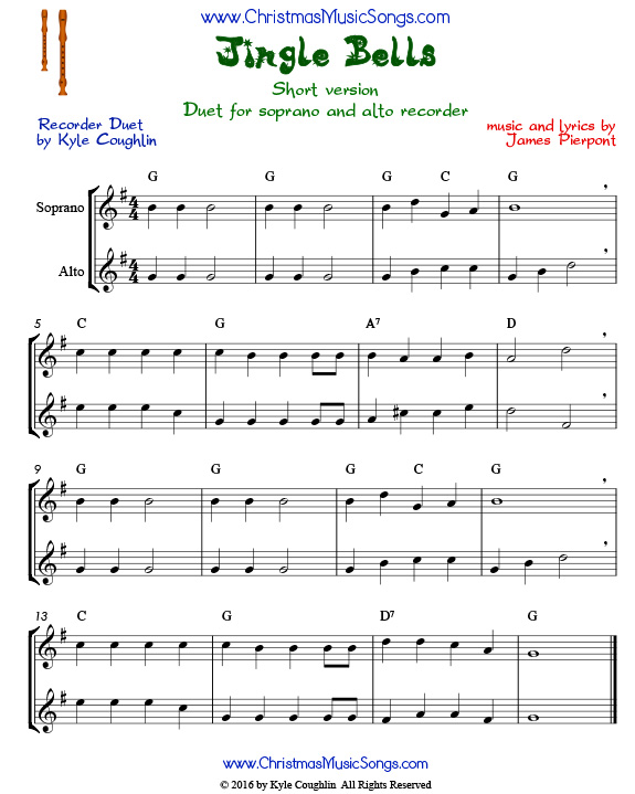 Christmas Duets.Free Christmas Song Duets For Recorder